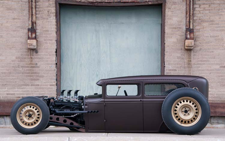 wicked chopped and dropped 1930 model a tudor sedan 47 Ford Business Coupe Hot Rods