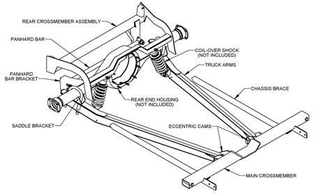 Universals Rear Axle Available Part Diagrams 6 In Rear Suspension
