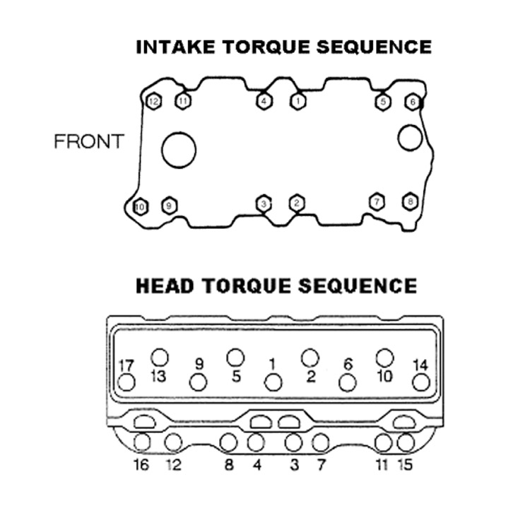 tech sbc intake bolt diagram