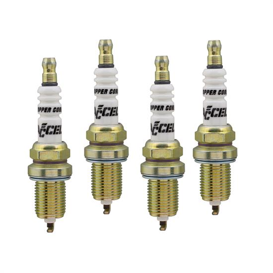 ACCEL 0736-4 Spark Plug, 14mm Thread, .75 In, 4 Pack