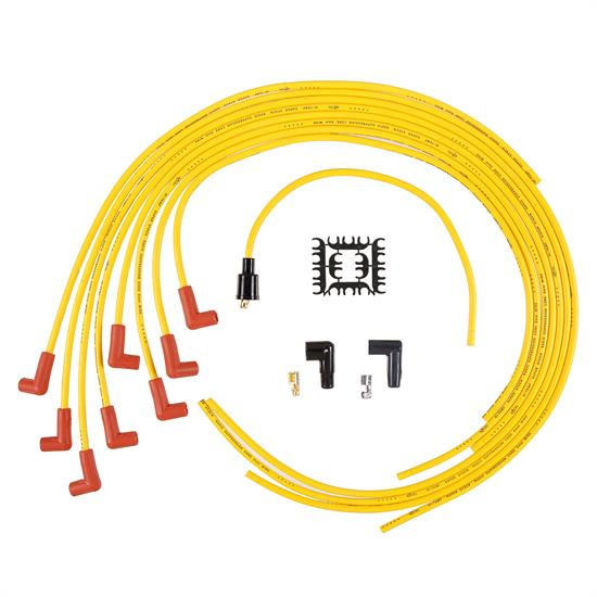 ACCEL 4041 Spark Plug Wire Set, 8mm, Super Stock, Yellow/Orange