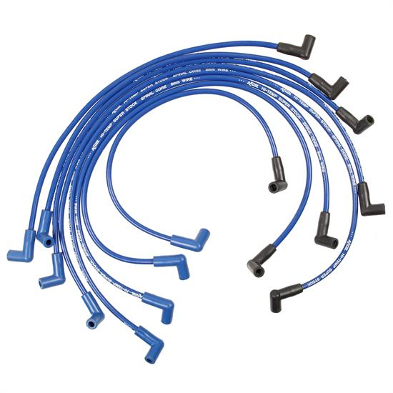 ACCEL 5048B Super Stock Ferro-Sprical Race Wire Set, 8MM, Blue