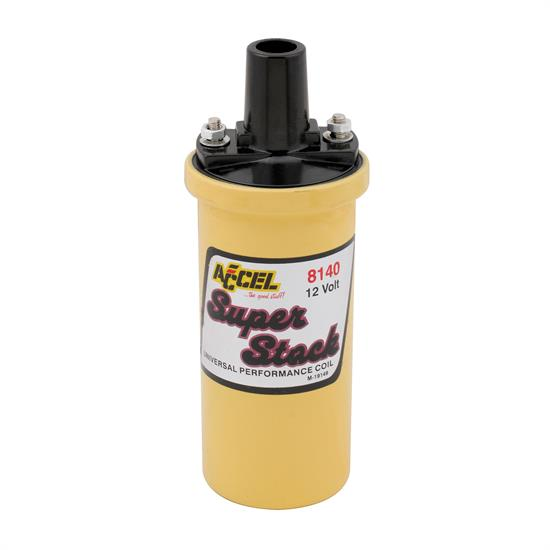 ACCEL 8140 Ignition Coil, Yellow, 42000v 1.4 OhmPrimary