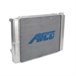 AFCO 80101NDP Double Pass Racing Radiator-27.5 Inch Wide, 19 Inch Tall