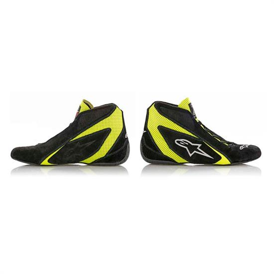 Alpinestars 2710618-155-9 SP Racing Shoes, Black/Yellow, 9