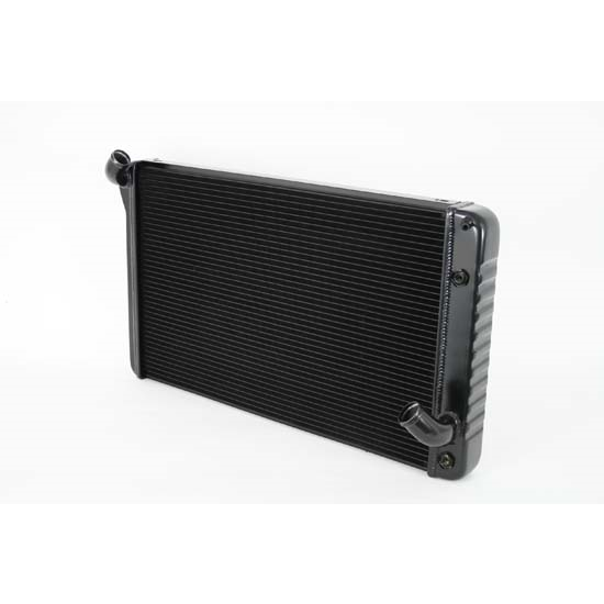 Dewitts 1249069A 1969-72 Corvette Direct Fit HP Radiator, Black, Auto