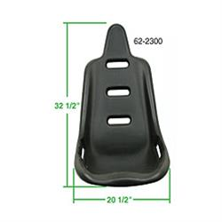 EMPI 62-2300 Poly High Back Comfort Bucket Seat