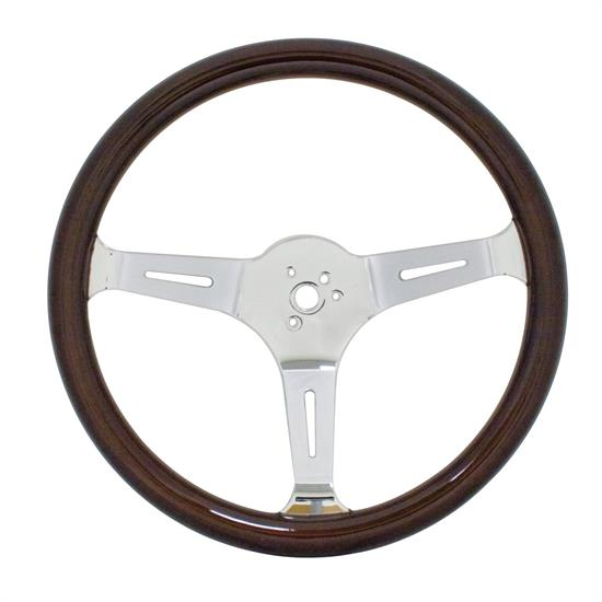 EMPI 79-4021-7 Dark Classic Wood Steering Wheel, 15 x 3, 31mm