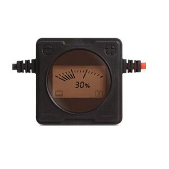 12 Volt Battery Monitor, Coiled 20 Inch Wires