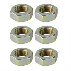 Steel Jam Nuts, 3/8 Inch-24 NF Fine Thread, Pack/6