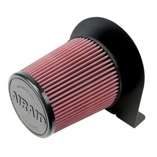 Airaid 100-211 Air Filter w/Mounting Brackets, 6 In Filter/3-1/2 Tube