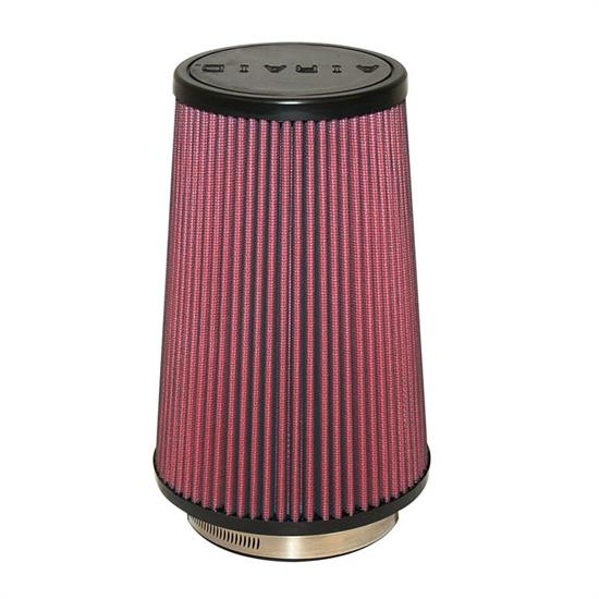 Airaid 700-471 SynthaFlow Air Filter, Red, 9in Tall, Round Tapered