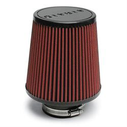 Airaid 700-493 SynthaFlow Air Filter, Red, 6in Tall, Round Tapered