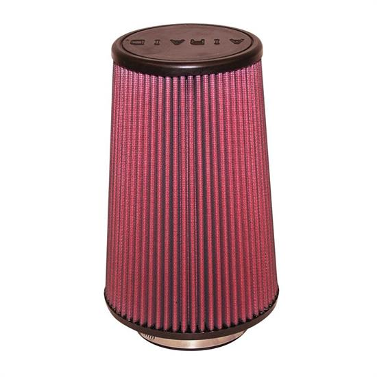 Airaid 701-421 SynthaMax Air Filter, Red, 9in Tall, Round Tapered