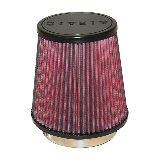 Airaid 701-453 SynthaMax Air Filter, Red, 6in Tall, Round Tapered
