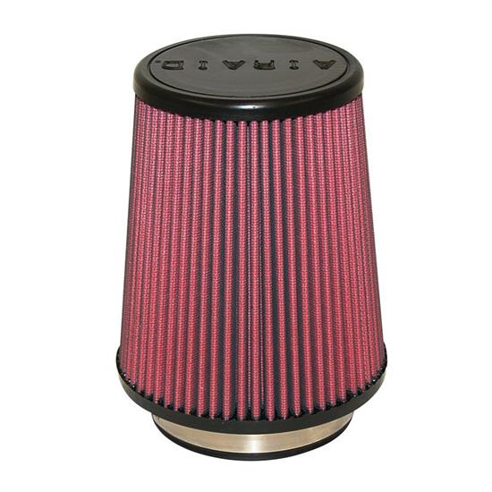 Airaid 701-458 SynthaMax Air Filter, Red, 7in Tall, Tapered Conical