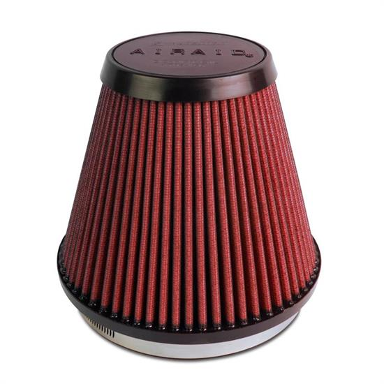 Airaid 701-466 SynthaMax Air Filter, Red, 6in Tall, Tapered Conical