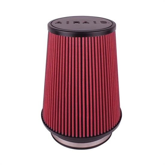 Airaid 701-491 Air Filter, Red, 7in Tall, Round Tapered