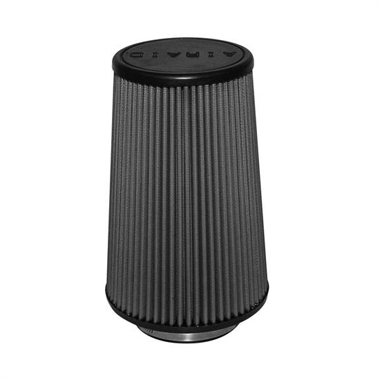 Airaid 702-421 SynthaMax Air Filter, Black, 9in Tall, Tapered Conical