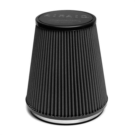 Airaid 702-461 Air Filter, Black, 8in Tall, Tapered Conical
