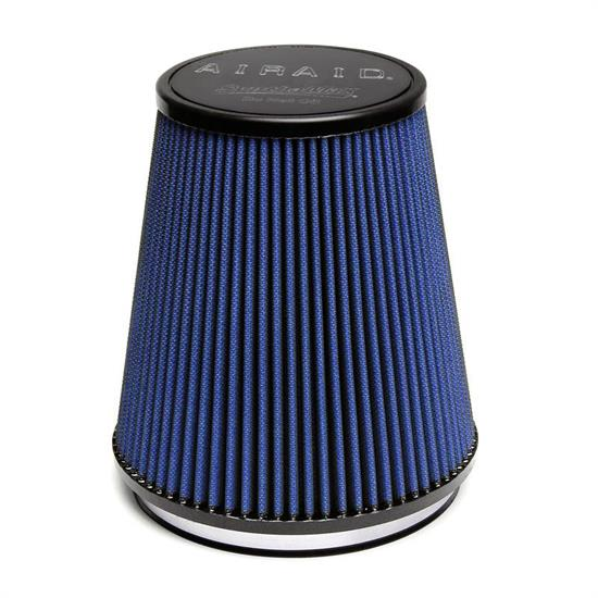 Airaid 703-461 SynthaMax Air Filter, Blue, 8in Tall, Round Tapered