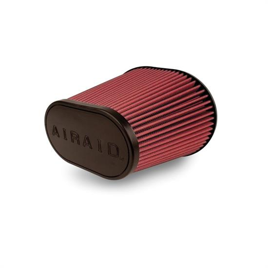 Airaid 720-242 SynthaFlow Air Filter, Red, 8in Tall, Oval Tapered