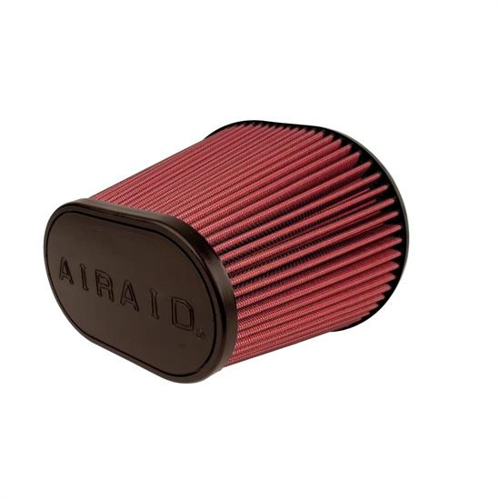 Airaid 720-243 SynthaFlow Air Filter, Red, 8in Tall, Oval Tapered