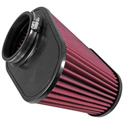 Airaid 721-128 SynthaMax Air Filter, Red, 7.25in Tall, Oval Tapered