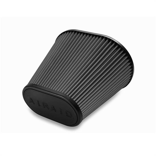 Airaid 722-476 Air Filter, Black, 9in Tall, Oval Tapered