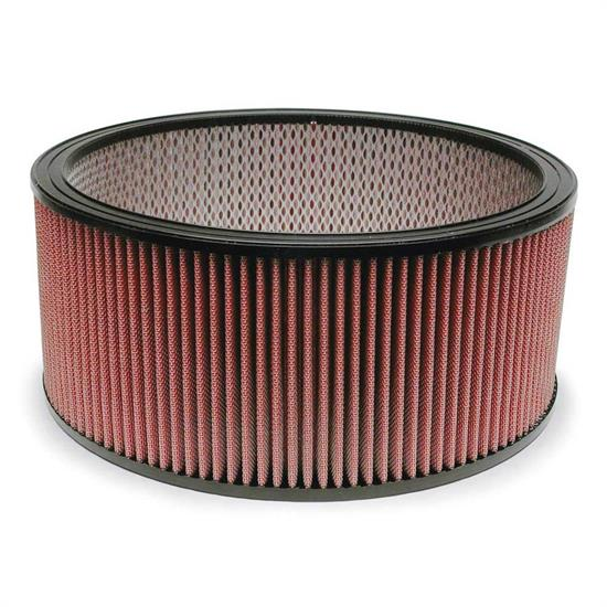 Airaid 800-374 SynthaFlow Air Filter, Red, 6in Tall, Round Straight