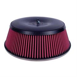 Airaid 801-454 SynthaMax Air Filter, 4in Tall, Red, Round Straight