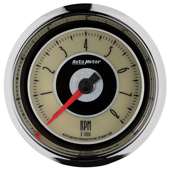 Auto Meter 1196 Cruiser Air-Core In-Dash Tachometer Gauge, 3-3/8 Inch