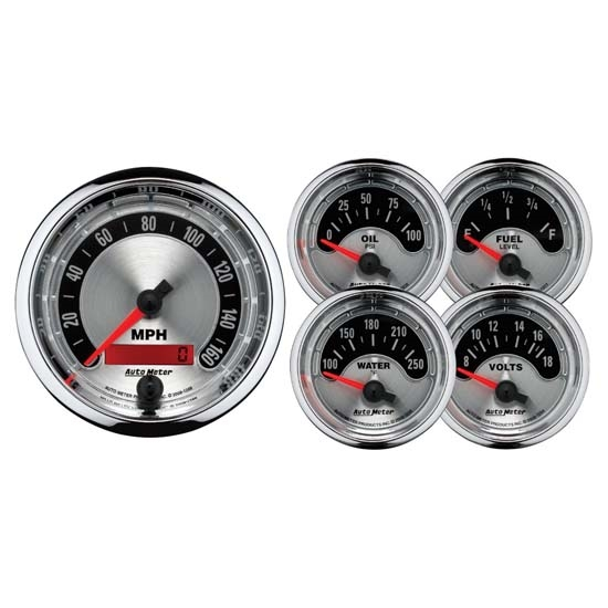 Auto Meter 1202 American Muscle 5 Piece Gauge Kit