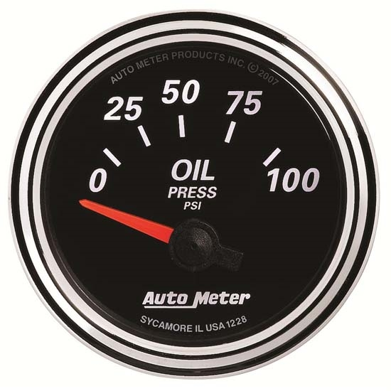 Auto Meter 1228 Designer Black II Air-Core Oil Pressure Gauge
