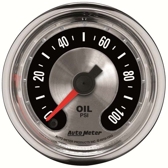 Auto Meter 1253 American Muscle Digital Stepper Motor Oil PSI Gauge