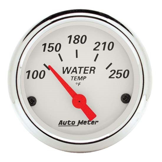 Auto Meter 1337 Arctic White Air-Core Water Temperature Gauge