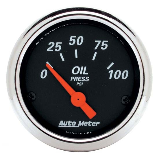 Auto Meter 1426 Designer Black Air-Core Oil Pressure Gauge, 2-1/16 In.