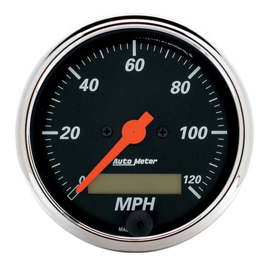Auto Meter 1487 Designer Black Air-Core Speedometer Gauge, 3-1/8 Inch