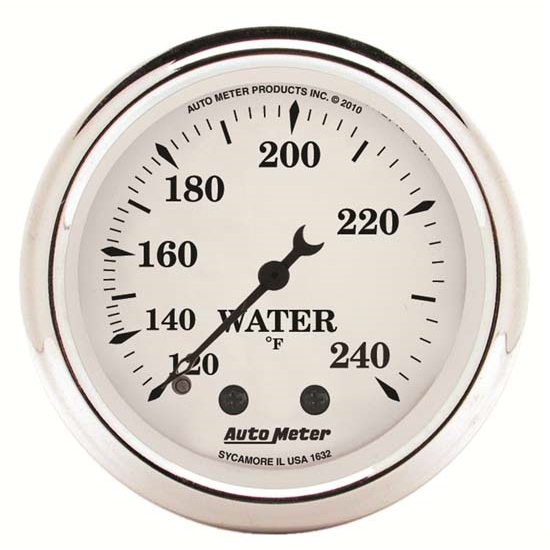 Auto Meter 1632 Old-Tyme White Mechanical Water Temperature Gauge