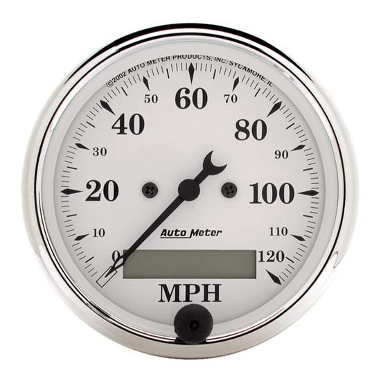 Auto Meter 1688 Old-Tyme White Air-Core Speedometer, 3-1/8 Inch