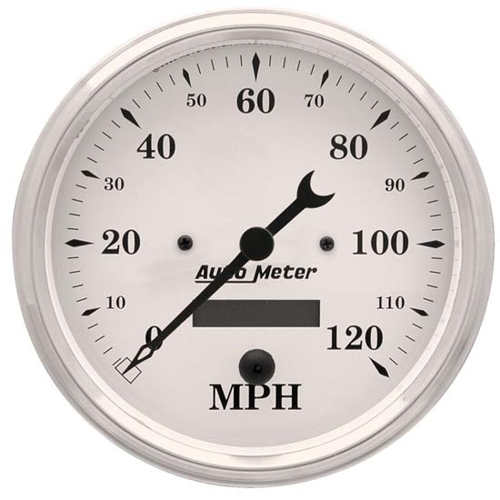 Auto Meter 1689 Old-Tyme White Air-Core Speedometer, 5 Inch
