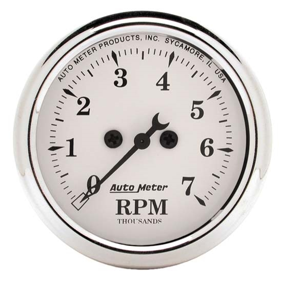 Auto Meter 1694 Old-Tyme White Air-Core In-Dash Tachometer, 2-1/16 In.