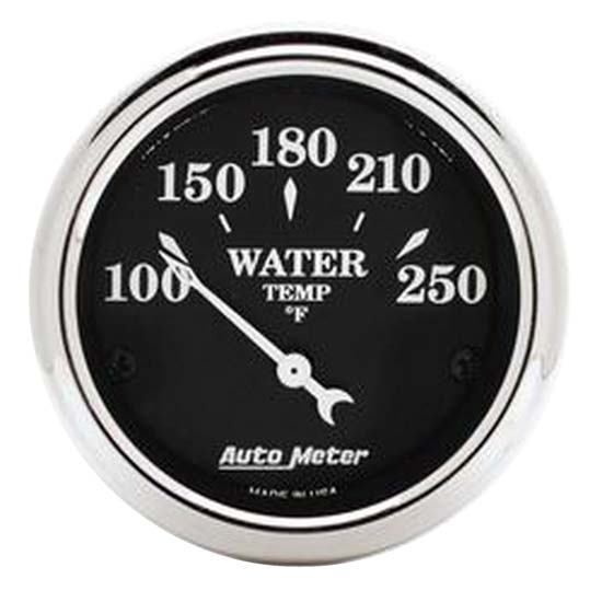 Auto Meter 1737 Old Tyme Black Air-Core Water Temperature Gauge