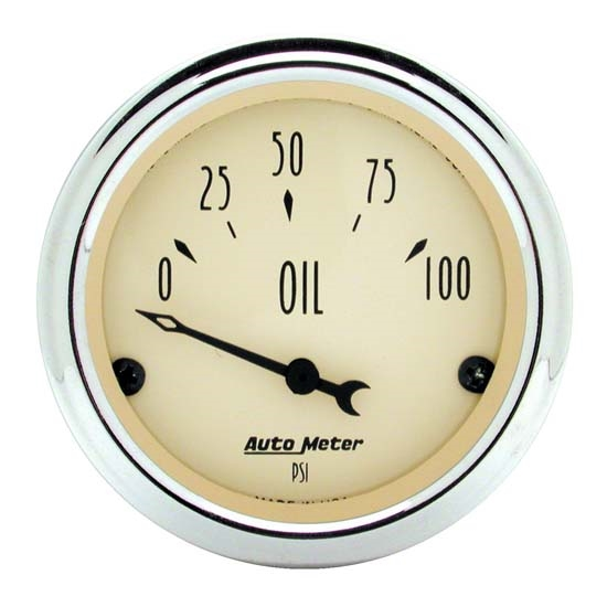 Auto Meter 1827 Antique Beige Air-Core Oil Pressure Gauge