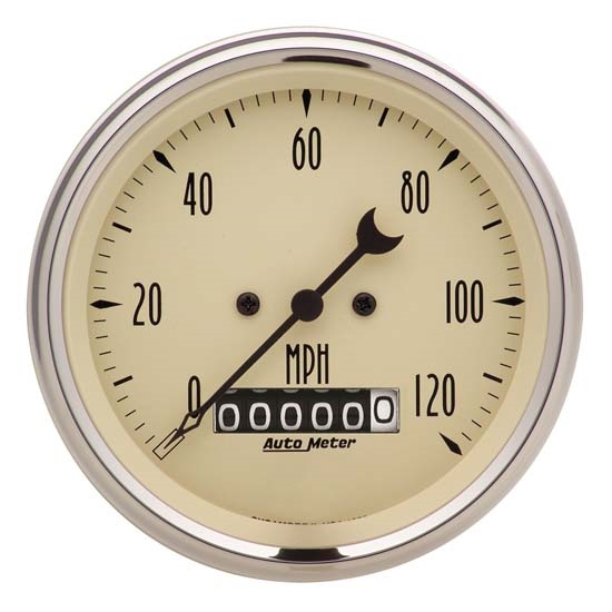 Auto Meter 1879 Antique Beige Air-Core Speedometer Gauge