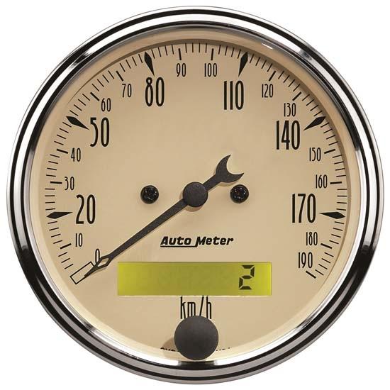 Antique Meter And Gauges : Auto meter m antique beige air core speedometer gauge