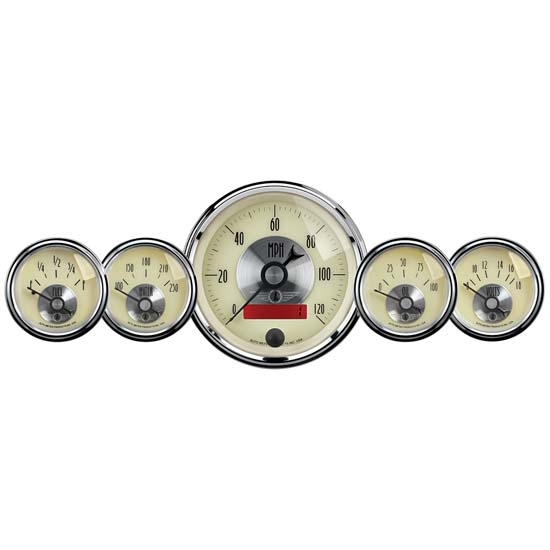 Auto Meter 2000 Gauge Kit, Prestige Series, Antique Ivory Face