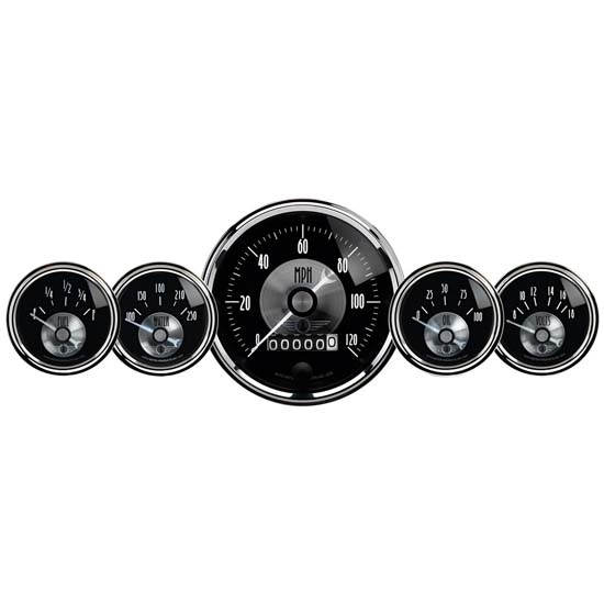 Auto Meter 2003 Prestige Black Diamond 5 Piece Gauge Set