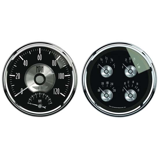 Auto Meter 2005 Prestige Black Diamond Air-Core 2 Piece Gauge Set