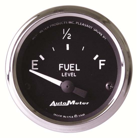 Auto Meter 201975 Cobra Air-Core Fuel Level Gauge, 2-1/16 Inch